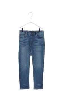BURBERRY check lapel jeans