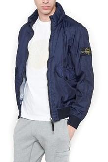 stone island hooded bomber jacket
