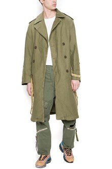 424 X ALPHA INDUSTRIES 'military' trench coat