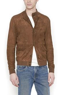 SALVATORE SANTORO suede bomber jacket