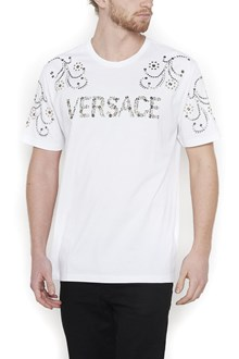 VERSACE swarowsky logo t-shirt