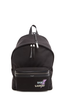 SAINT LAURENT thunder logo backpack