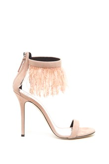 GIUSEPPE ZANOTTI feathers and crystals sandals