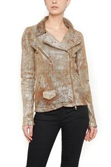 GIORGIO BRATO smeared leather jacket