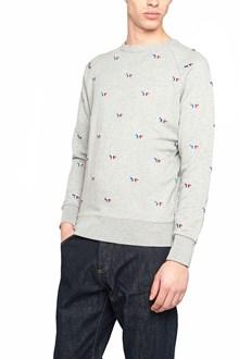 MAISON KITSUNE' all over logo sweatshirt