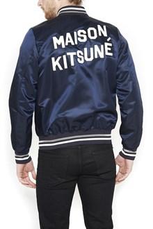 MAISON KITSUNE' patch logo bomber jacket