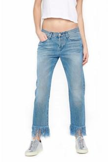 3x1 frayed hem jeans