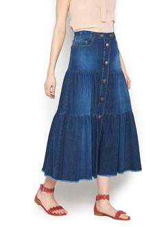 REDVALENTINO buttons long skirt