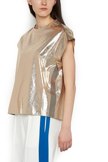 NUDE metallic effect t-shirt