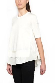 MONCLER bimaterial t-shirt