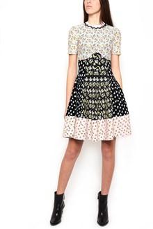ALEXANDER MCQUEEN floral jaquard dress