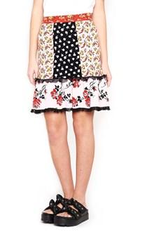 ALEXANDER MCQUEEN floral jaquard skirt