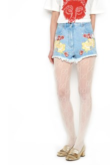 GUCCI embroidered flowers shorts
