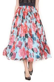 DOLCE & GABBANA printed roses skirt