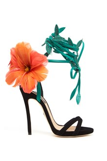 DSQUARED2 feathers flowers sandals