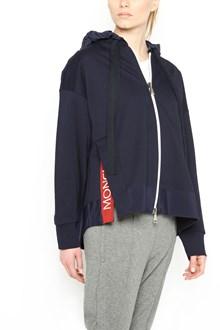 MONCLER logo split hoodie