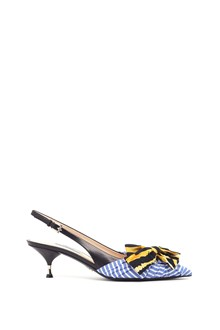 PRADA double fabric Slingback