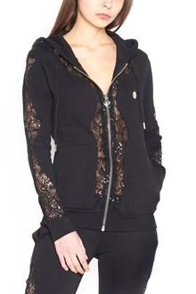 PHILIPP PLEIN lace details hoodie
