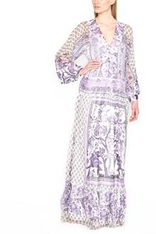 ALBERTA FERRETTI all over printed dress