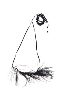 ANN DEMEULEMEESTER collana piume di struzzo