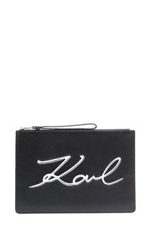 KARL LAGERFELD logo clutch
