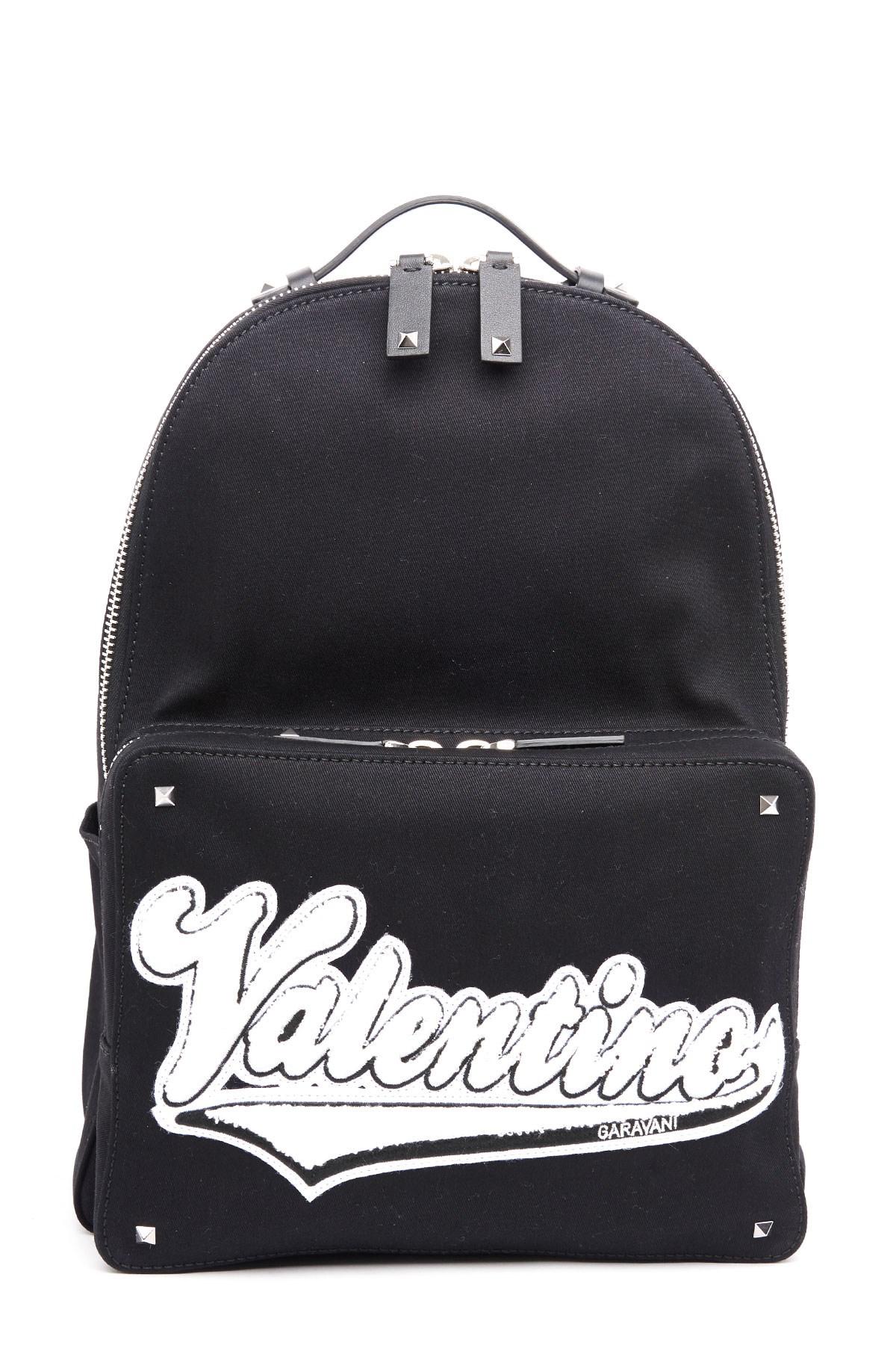 valentino garavani patch logo backpack available on julian-fashion ... 71506ba0f44a4