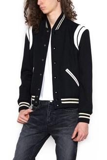 SAINT LAURENT 'icon teddy' bomber jacket