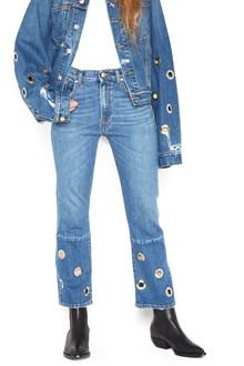 ONEDRESS ONELOVE eyelets jeans