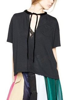 SACAI t-shirt with petticoat