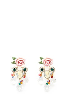 DOLCE & GABBANA cameo and roses earrings