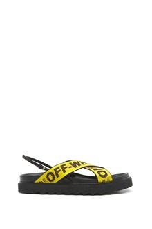 OFF-WHITE logo band sandals