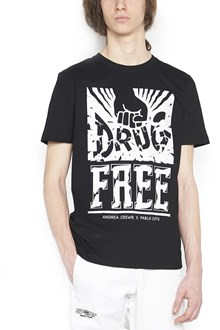 ANDREA CREWS 'drug free' t-shirt