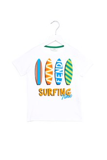 FENDI KIDS 'surfing' t-shirt