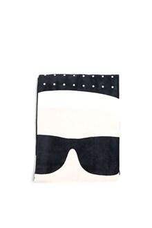 KARL LAGERFELD 'karl icon' beach towel