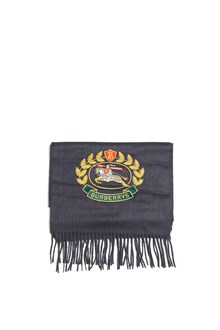 BURBERRY 'crest emb' scarf