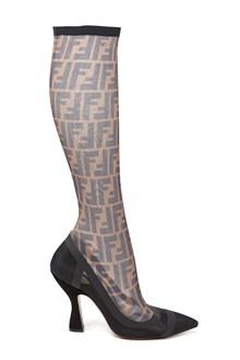 FENDI mesh fabric boots
