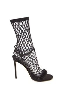 MARCO DE VINCENZO net socks sandals