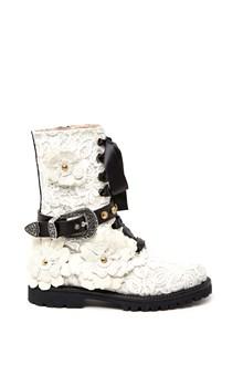 FAUSTO PUGLISI macramè boots