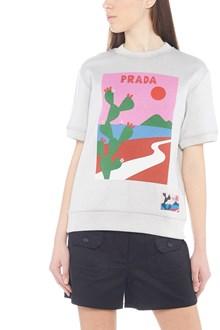 PRADA LINEA ROSSA cactus sweatshirt