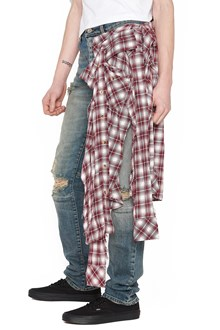 UNRAVEL applicated shirt jeans