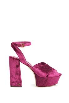 DOLCE & GABBANA velvet sandals