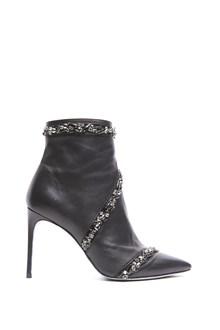RENÉ CAOVILLA jewels applications ankle boots