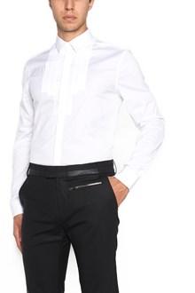LES HOMMES 'plastron mixed' shirt