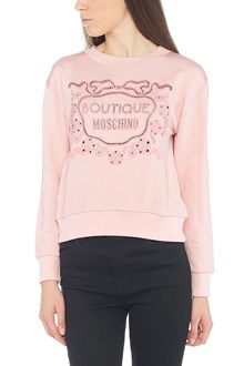 BOUTIQUE MOSCHINO embroidered a'jour sweatshirt