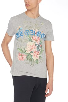 ALEXANDER MCQUEEN flowers and logo t-shirt