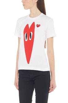 COMME DES GARÇONS PLAY 'stretch heart' t-shirt