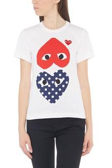 COMME DES GARÇONS PLAY 'upside down heart' t-shirt