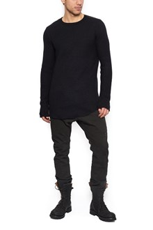 10SEI0OTTO maglione inserti pelle