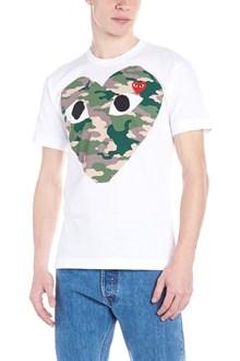 COMME DES GARÇONS PLAY 'camouflage big heart' t-shirt