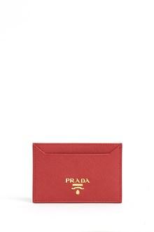 PRADA logo cardholder